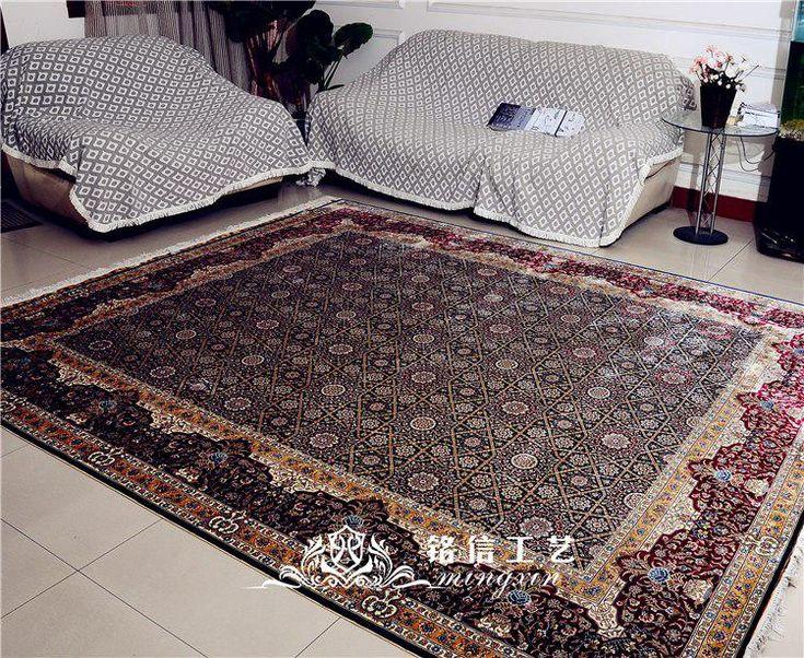 Mingxin 8×10 feet hand knotted persian silk carpet…