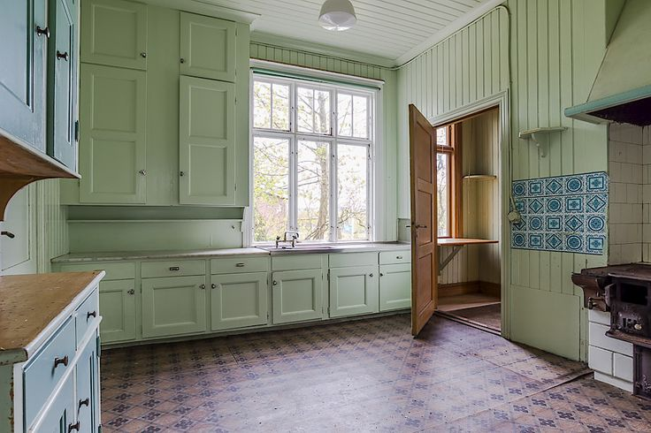 Kitchen in a house in Onsala, Sweden, built in 1916.