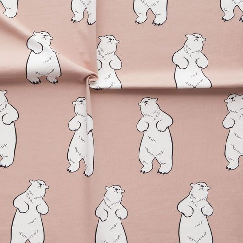 TALVINALLE, puuteriroosa   New NOSH fabric collection for Winter 2016! Get inspired from polar bears and pastel colors. Shop this new fabric collection at en.nosh.fi