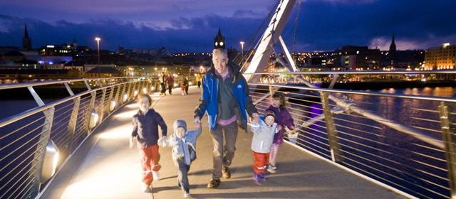 Peace Bridge, Derry~Londonderry, Northern Ireland