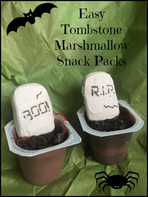 Nanny to Mommy: Tombstone Marshmallow Snack Pack with PEEPS {SPOOK...