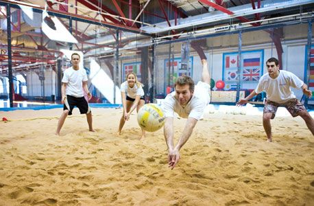 The Sports Center at Chelsea Piers is home to NYC's only indoor sand volleyball court. Members enjoy pick-up games and unique cross-training regimens.
