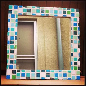 Diy Mosaic Tile Mirror Diy Indoor Decor Pinterest Mosaic Diy