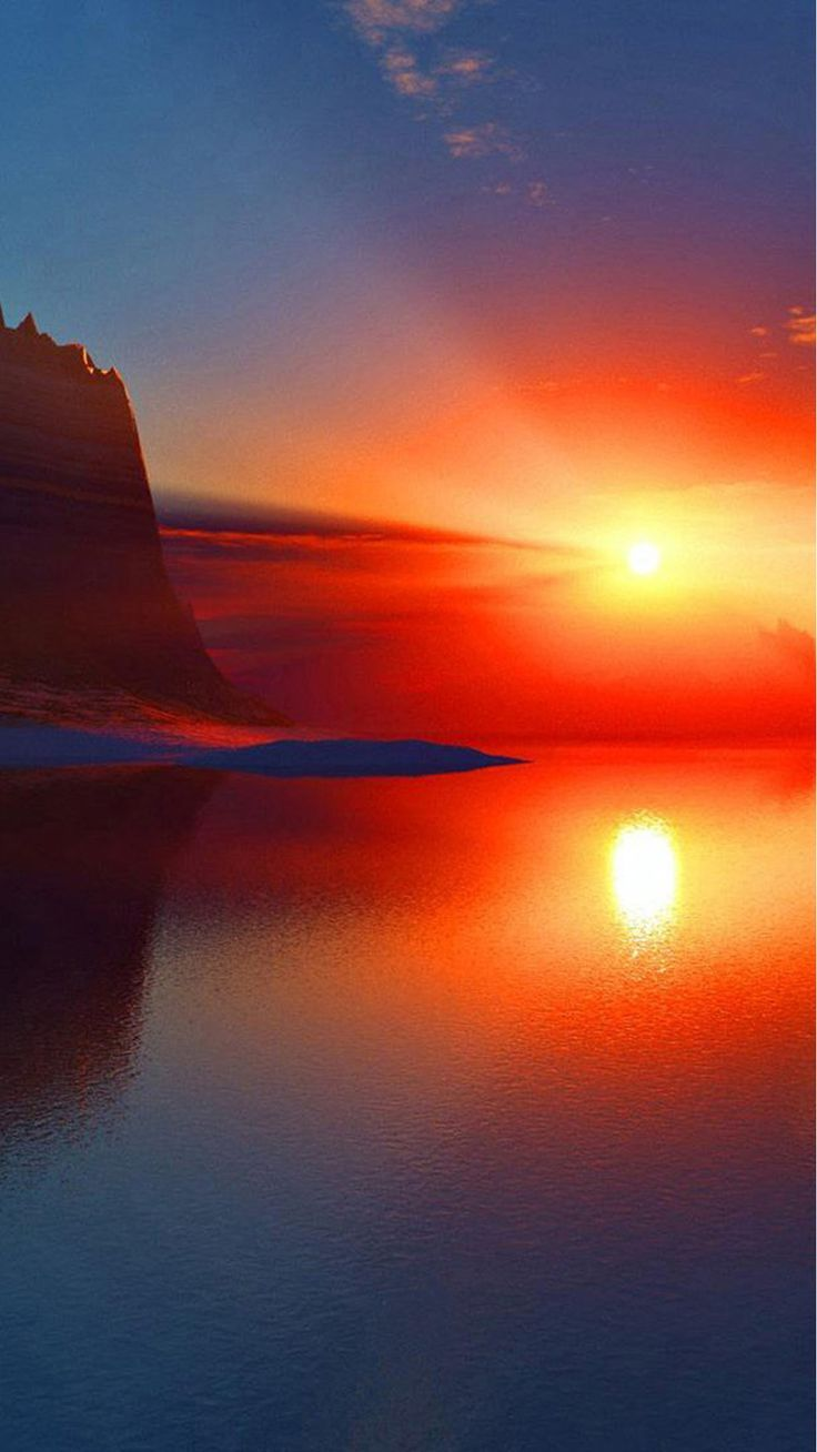 61 best images about backgrounds on pinterest cherry - Sunset iphone background ...