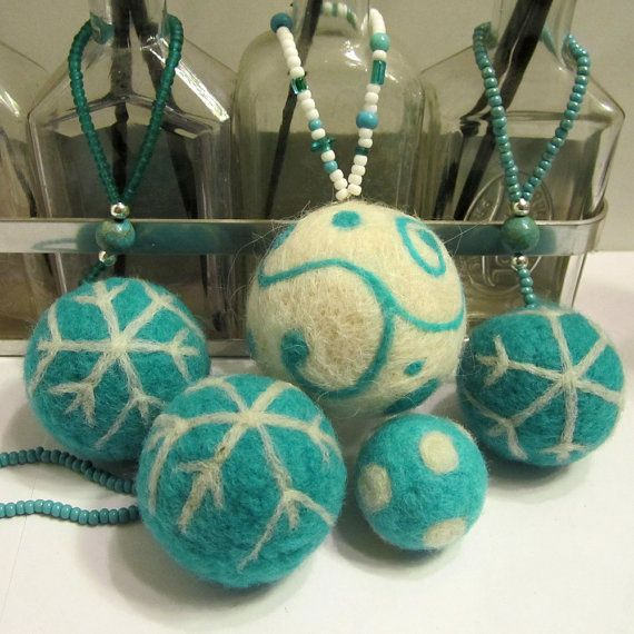 Robin-egg-blue or turquoise swirls...you decide what color you call them. Whatever you pick, this one-of-a-kind piece is a beautiful cool wintery eco-friendly ornament to add to your tree or a treasured friends.    Appx. 2 1/2 across