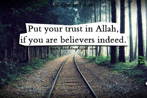 Islamic Daily: Put your trust in Allah, if you are believers indeed. Al-Qur'an 5:23 | Hashtag Hijab © www.hashtaghijab.com