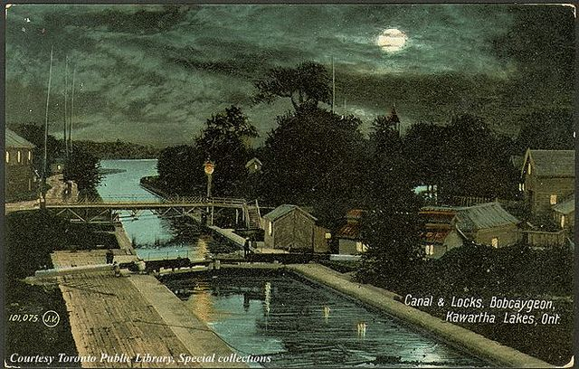Canal and Locks, Bobcaygeon, Kawartha Lakes, Ontario, Canada    Creator: Valentine & Sons' Publishing Co. Ltd.   Date: 1910