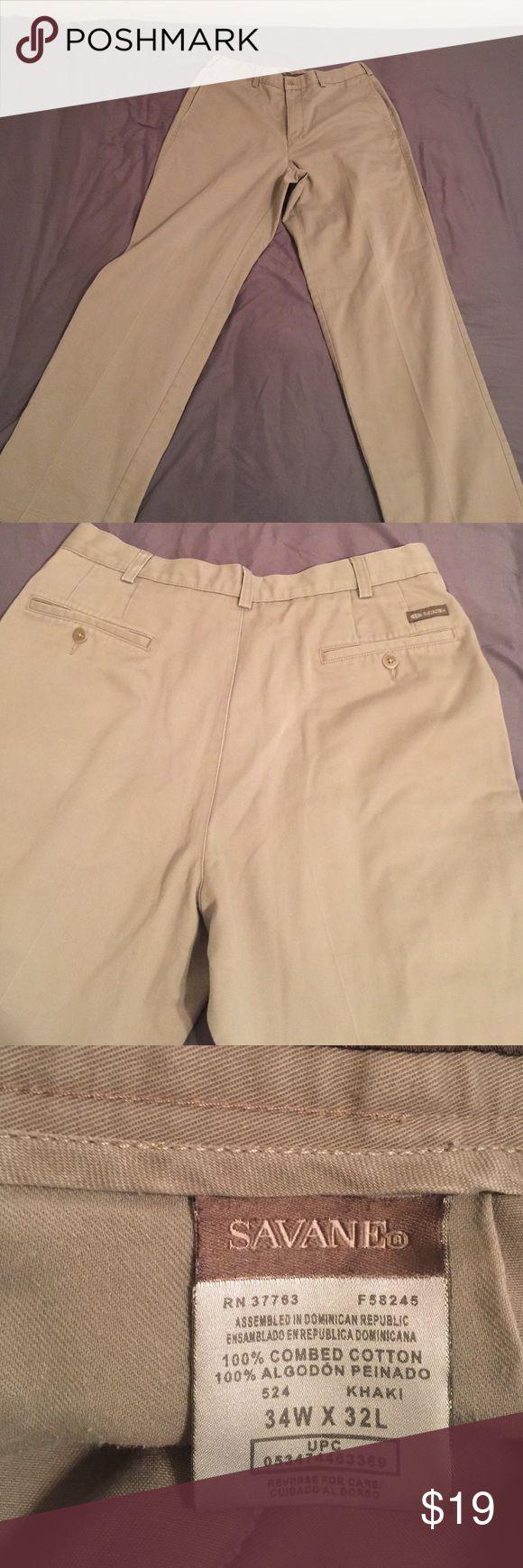 Men's khaki pants Men's Savane khaki pants, like new, excellent condition. 34X32 savane Pants Chinos & Khakis