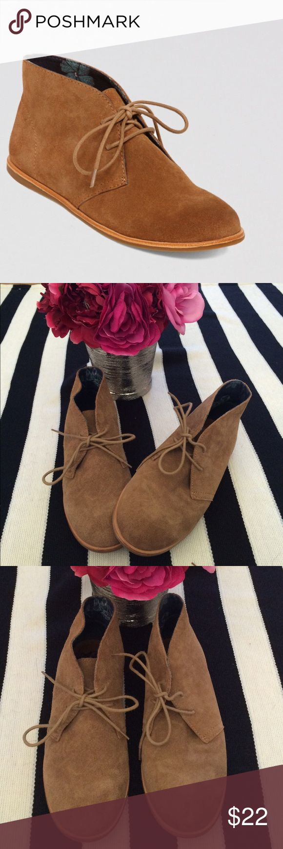 Lucky Brand Flat Lace Up Shoes These shoes have been worn twice, really cute with skinny jeans or ankle pants! Great condition! Lucky Brand Shoes Ankle Boots & Booties