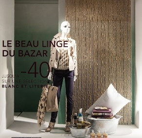 Les vitrines du BHV PARIS