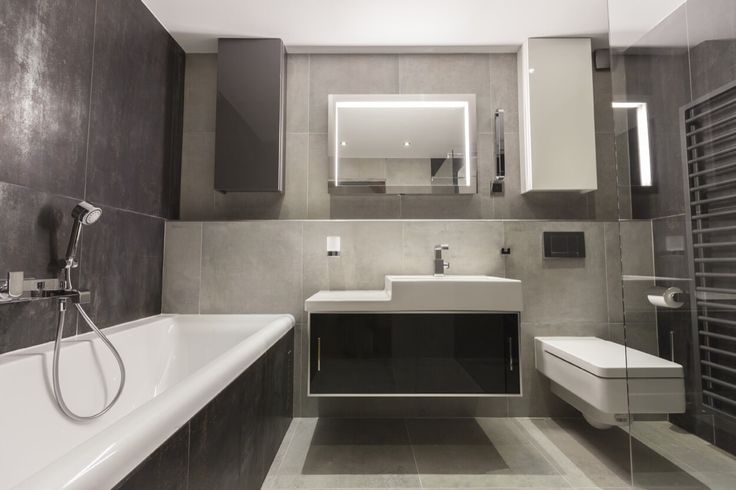 Peaceful Tones With White Vanity Counter And Sink