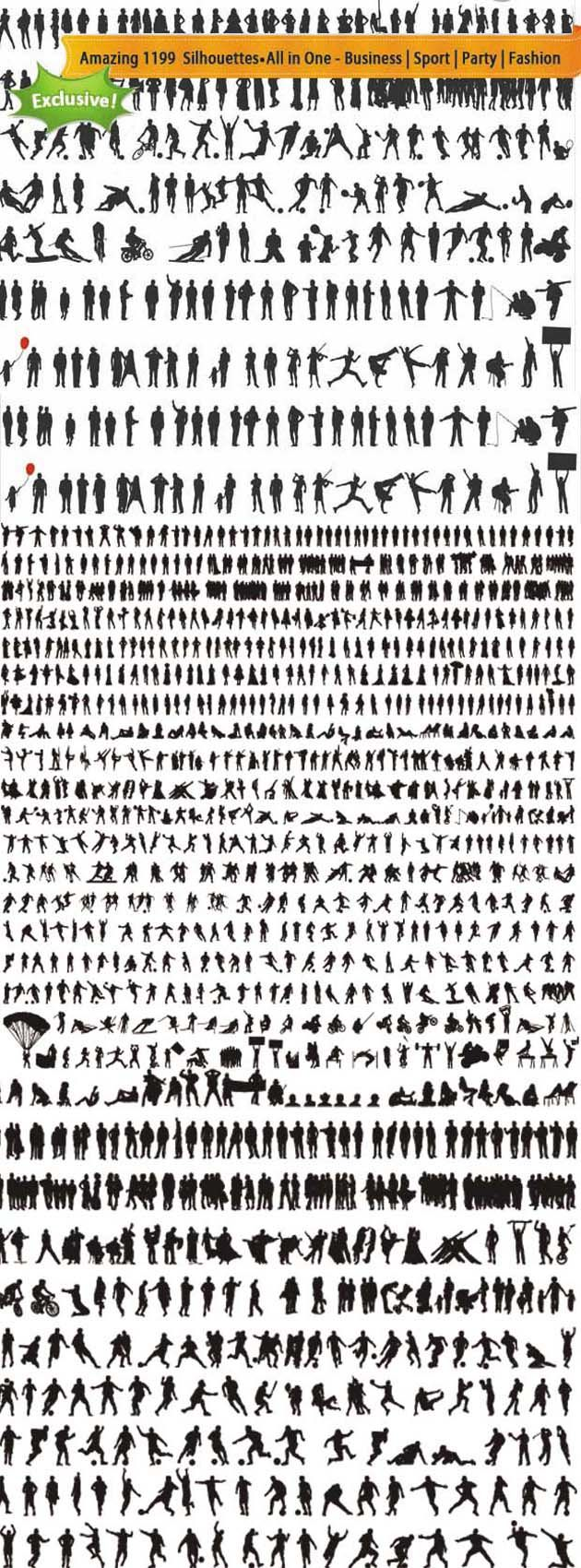1000+ Silhouettes Free Vector