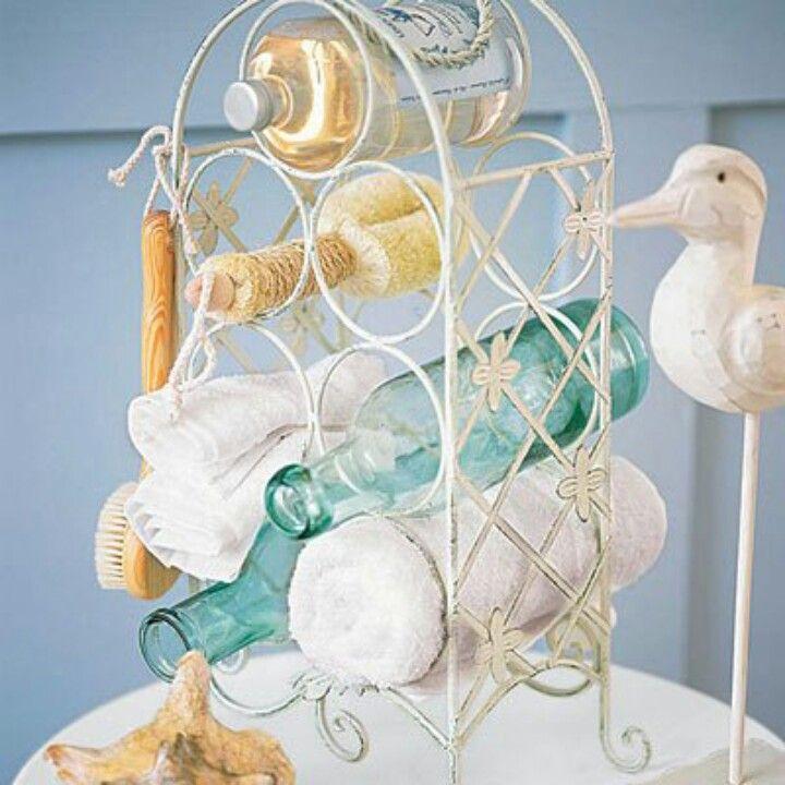 Best Wine Rack Uses Images On Pinterest Bathroom Remodeling - Wine rack towel storage for small bathroom ideas