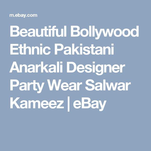 Beautiful Bollywood Ethnic Pakistani Anarkali Designer Party Wear Salwar Kameez    eBay