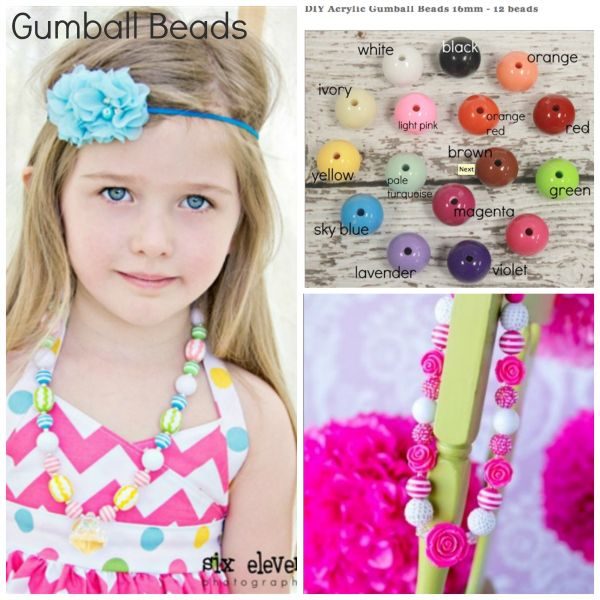 Gumball beads at a reasonable price!