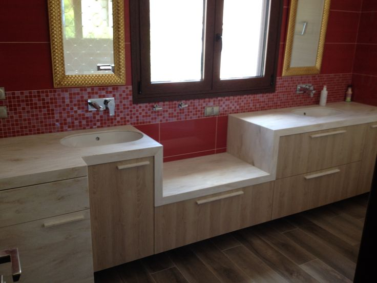 Bathroom l Private house l corian by dupont l Construction by Petsis