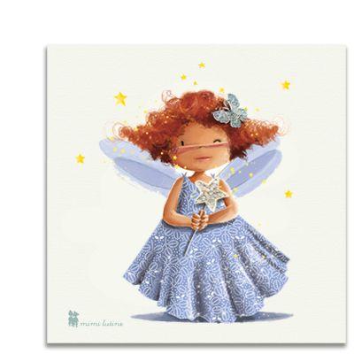 Original cuadro de una dulce hada con el que decorar la habitación de los niños. Incluye colgador.