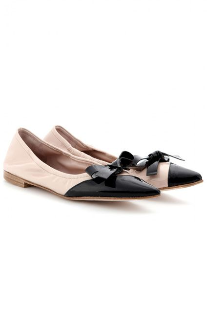 With a pointed toe and a dreamy bow, the Miu Miu fairy grants our childhood wish to be (or, at least, walk like) a ballerina.