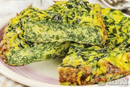 Receita de Fritada de espinafre especial em receitas de ovos, veja essa e outras receitas aqui!