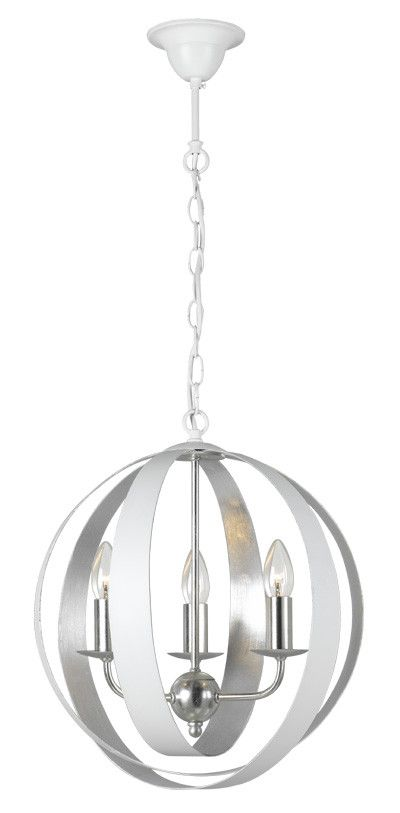 Contemporary Silver Leaf Ring Pendant – Dining room... Urban lighting willoughby