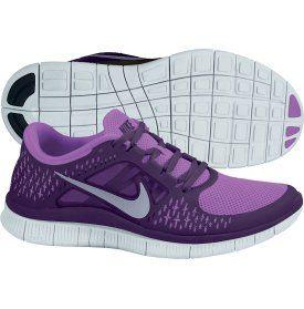 nike womens free 5.0 trainers - purple\/blue carnival glass