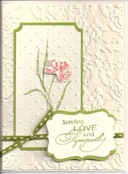 Love & Sympathy by Rita Cottrell - Cards and Paper Crafts at Splitcoaststampers