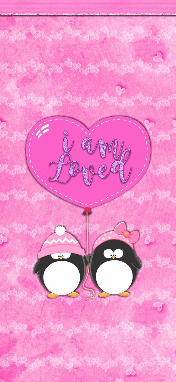 iPhone X version Penguin love, Love wallpaper, Winter