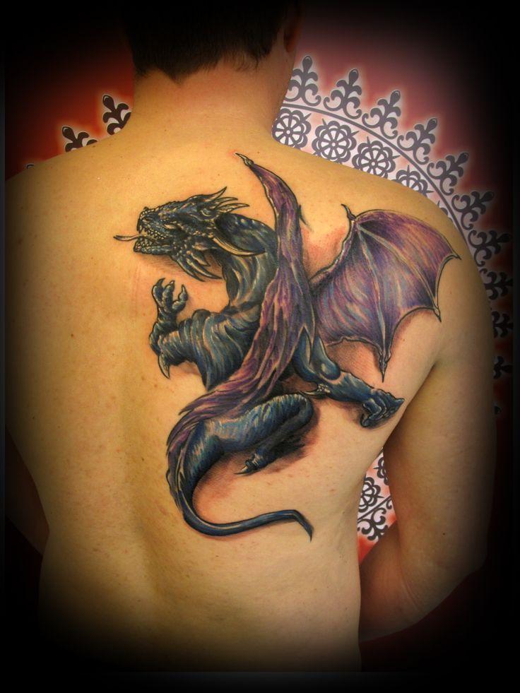 #tattoo #tattooartist #ink #inked #color #colortattoo #dragon #backpiece #backpiecetattoo #studio #bardo #studiobardo