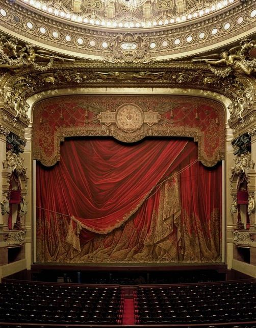 Garnier Opera, Paris - theatre curtain valance idea
