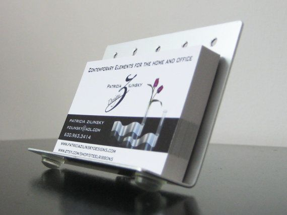 13 best business card holders images on pinterest business card modern business card holder by steelribbons on etsy colourmoves