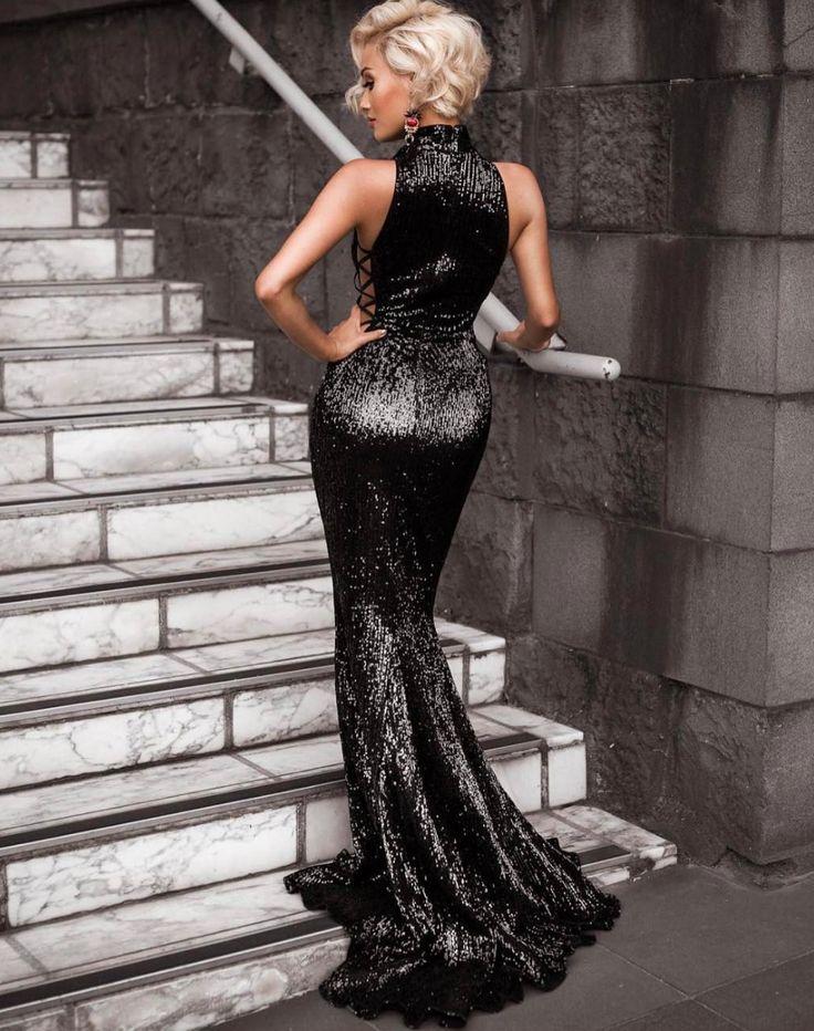 The Gold balmain style sequin evening dress Evening Gown / Formal Dress / Prom Dress / Maxi Dresses / Unique Dress / pageant dress / mermaid dress