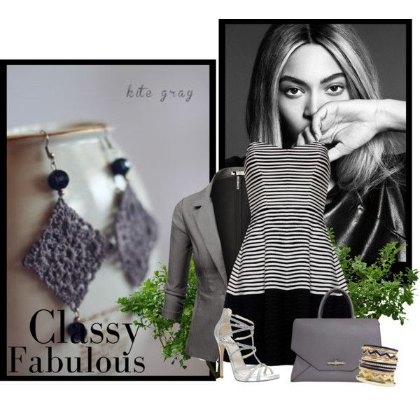 """""""Earring kite gray"""" by jessica18 on Polyvore"""