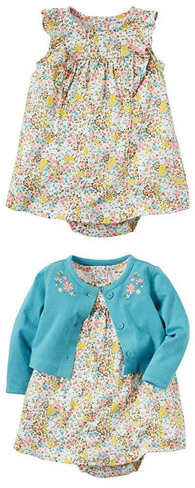 Carter's Baby Girls' Flutter Sleeve Striped Dress 3 Months