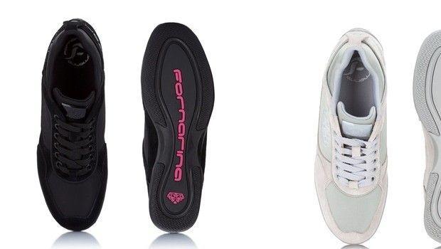 Sneakers con zeppa, l'ibrido dei tacchi alti casual di Fornarina a/i 14-15
