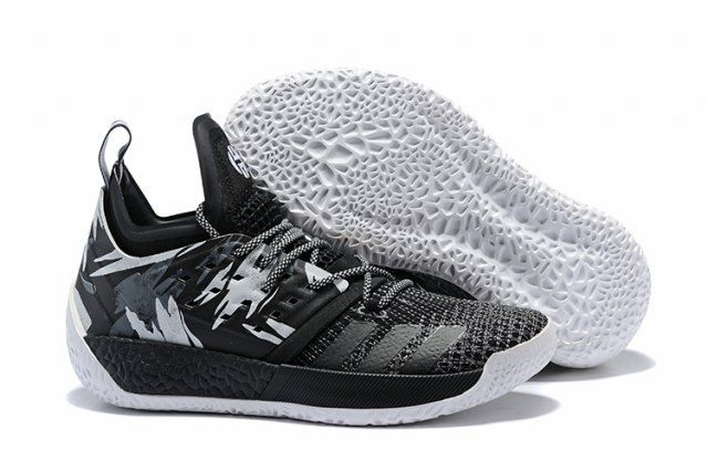 apariencia elegante cupón doble Precio reducido Adidas Harden Vol. 2 Men's Basketball Shoes Black White ...
