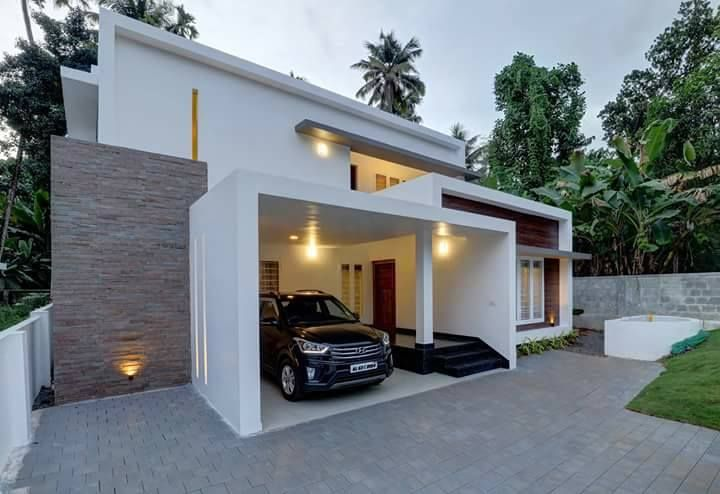 Minimalist House Constuctors In Kerala Minimalist House Low Price Minimalist House Decor Kerala House Design Minimalist House Design Modern Minimalist House