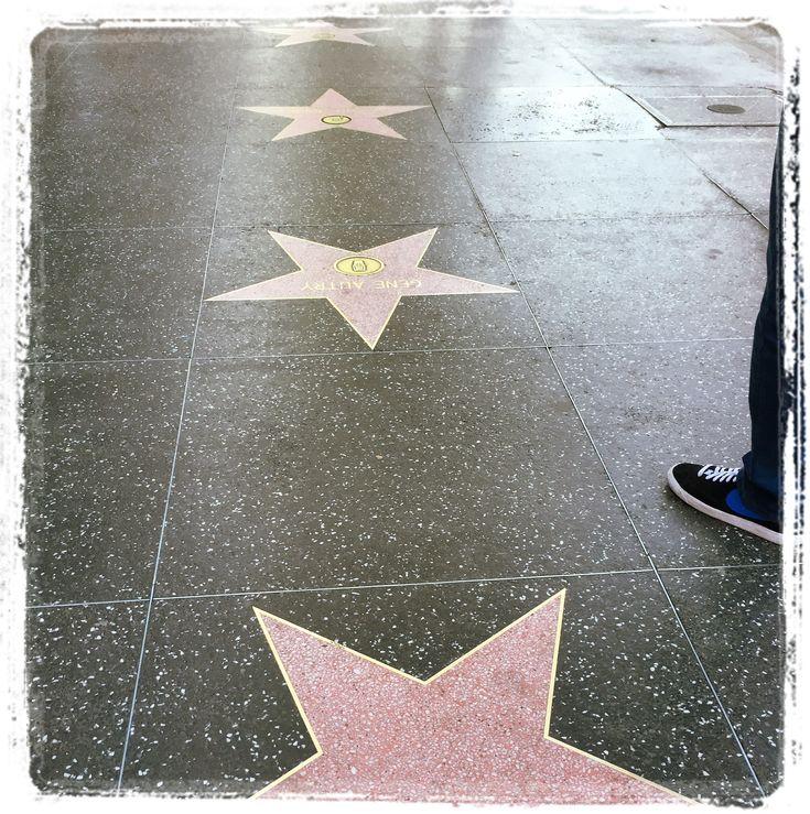 Na calçada da fama, a Walk of fame