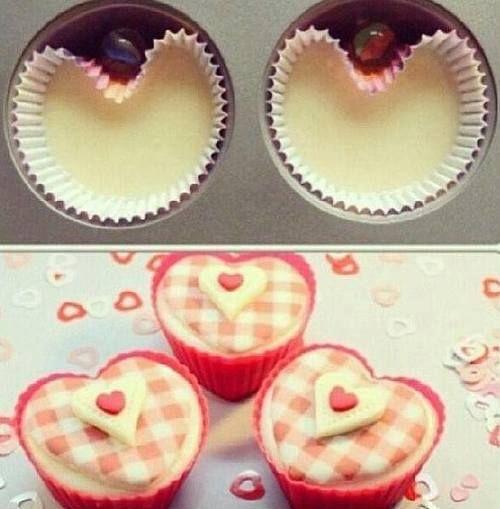 Pour que les muffins aient une forme de coeur !