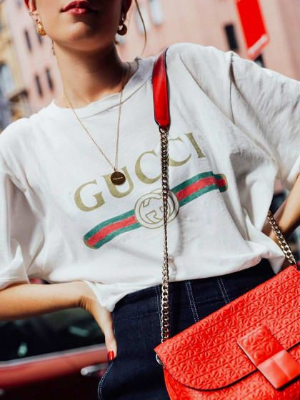 This Season's Most Expensive T-Shirts Feat. Gucci Faded Logo Tee | Stylight