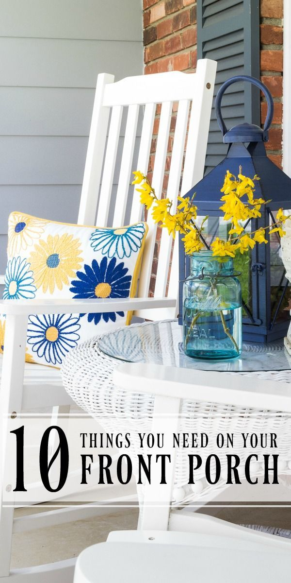 10 Things you Need on your Front Porch | a handy list of items that will add amazing curb appeal to your home and welcome your guests. Includes ideas for plants, lighting, seating and more. #Sponsored