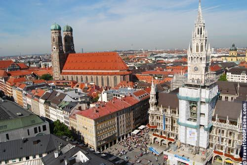 Munich is located close to the Bavarian Alps in the centre of Europe.