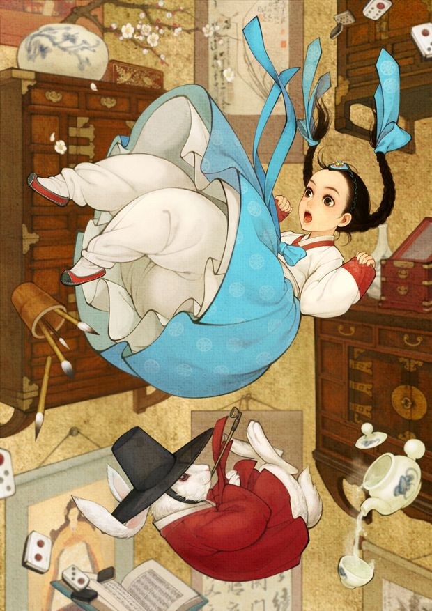 Alice in Wonderland by Obsidian (mangaka) = THIS is how I feel some days ... I'm falling .... like Alice down the rabbit hole! ::lesigh::
