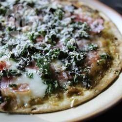 Pesto Pizza with Prosciutto @ allrecipes.com.au