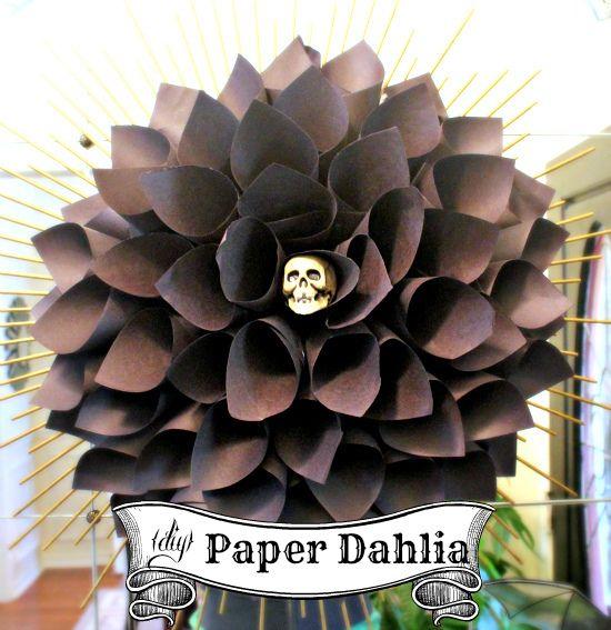 black paper dahlia by hi sugarplum!