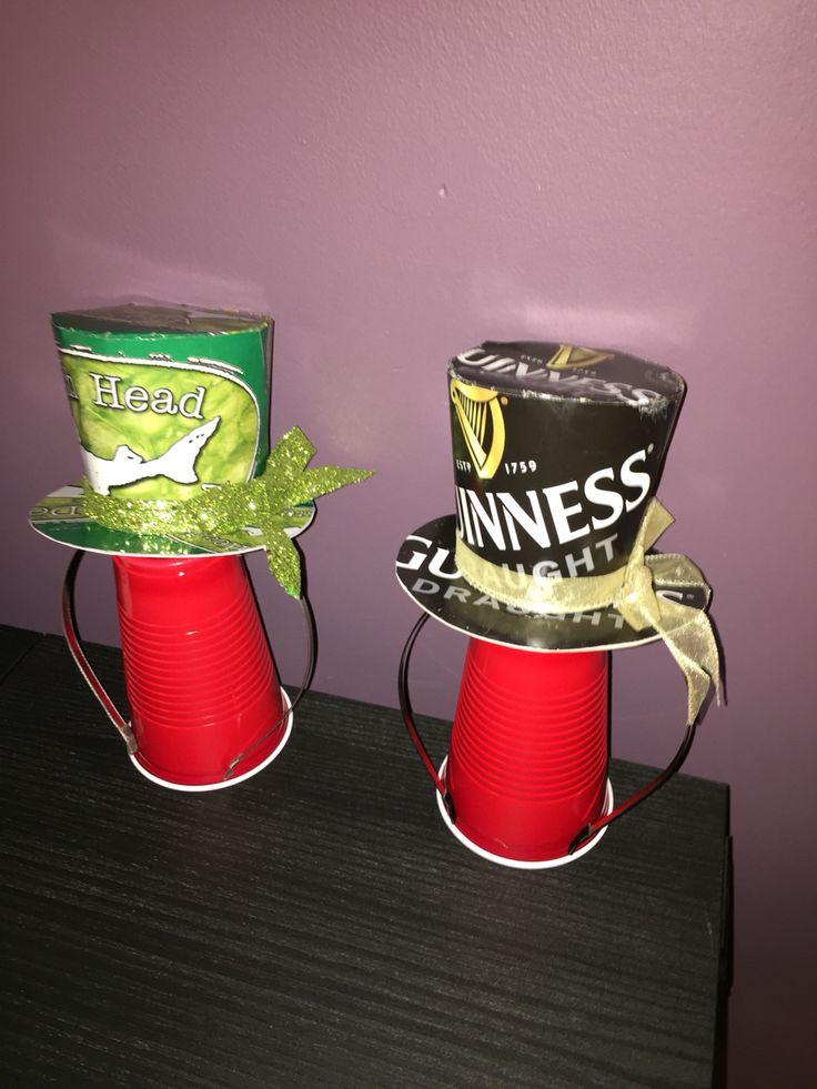 Beer box mini top hats!