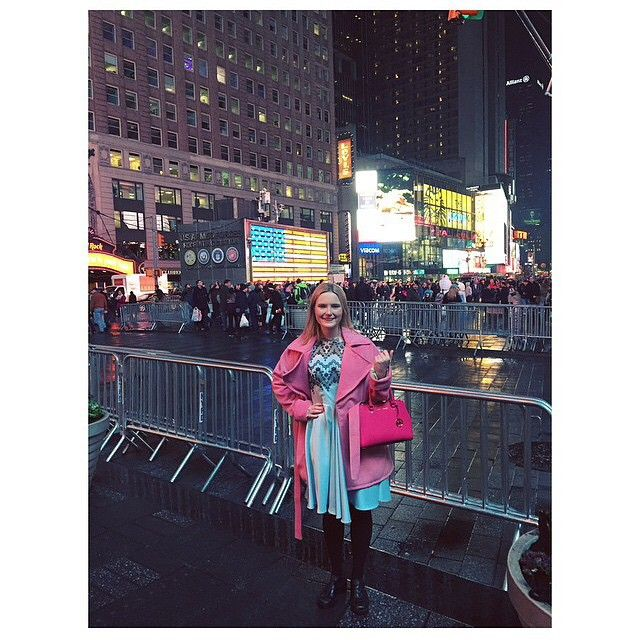 Lovely customers @rima_hurrell repping WNDLND and lady Petrovain Times Square @lady_petrova #wndlnd #ladypetrova #pastel #timessquare #nyc #newyork #fashion #coat #pink #label #cbr #independant #designer #cute