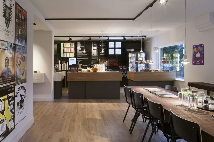 Interior design Coffee Company Amsterdam; design by Ninetynine #coffee #wood