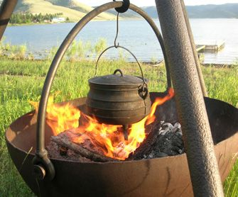 Cowboy Cauldron Portable Fire Pit and Grill