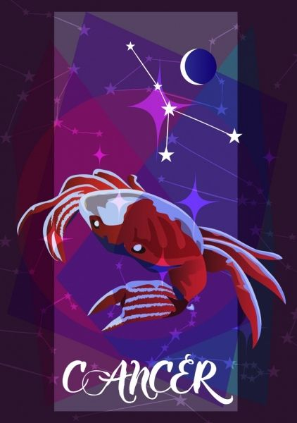 Cancer Zodiac Symbol Red Crab Icon 3d My Wallpaper Pinterest