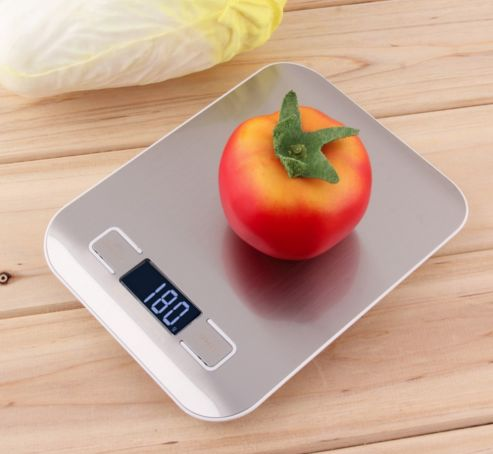 Always get an accurate weight for portioning and cooking with this ultra slim, digital kitchen scale with sleek stainless steel weighing surface. Features: - High-precision sensor - Weighing range of